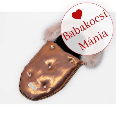 Berry Baby Luxus bundazsák babahordozóba és mózesbe: GOLDEN ROSE WITH CRYSTALS 2