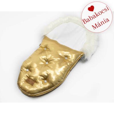 Berry Baby Luxus bundazsák babahordozóba-mózesbe: GOLD WITH CRYSTALS
