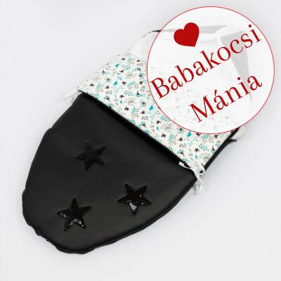 Berry Baby Crown bundazsák: Blue Bird -babahordozó autós ülésbe és mózesbe- ECO bőrből