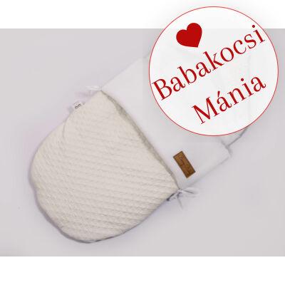 Berry Baby Klasszikus bundazsák babahordozóba: fehér steppelt