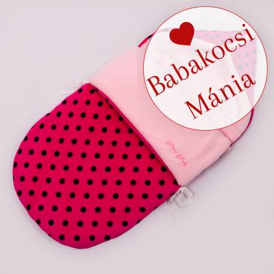 Berry Baby Klasszikus bundazsák babahordozóba: pink fekete pöttyös