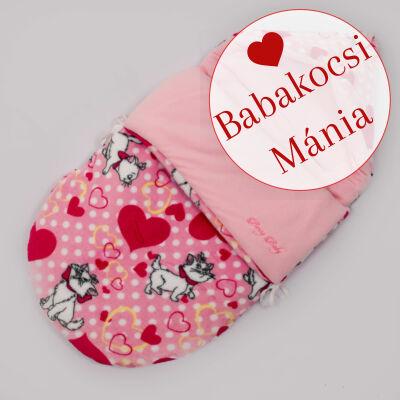 Berry Baby Klasszikus bundazsák babahordozóba: rózsaszín cicás