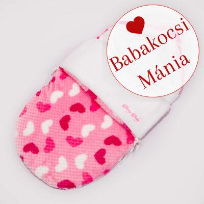 Berry Baby Klasszikus bundazsák babahordozóba: rózsaszín buborékos szíves