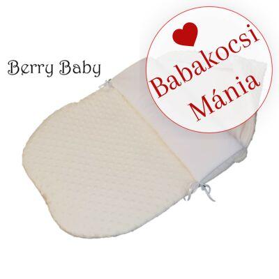 Berry Baby Klasszikus bundazsák babahordozóba: krém minky