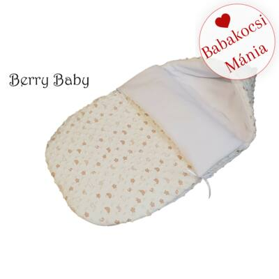 Berry Baby Klasszikus bundazsák babahordozóba: ekrü mintás minky