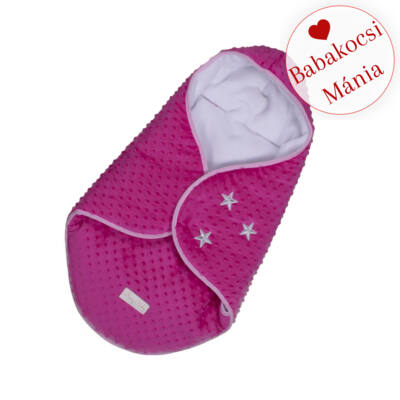Berry Baby Lovely bundazsák hordozóba: pink minky