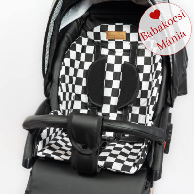 Berry Baby ZIZI babakocsi alátét: Check fekete fehér sakktábla