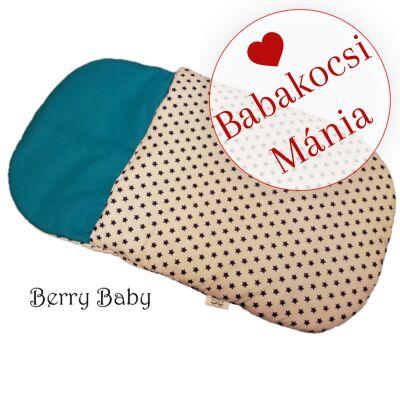 Berry Baby Babazsák mózesbe és babaágyba: fehér kék csillagos türkiz