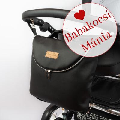 Berry Baby MAX 3in1 eco bőr pelenkázó táska: Pure Black fekete