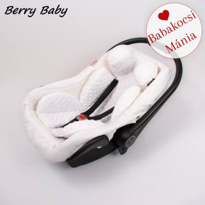 Berry Baby újszülött szűkítőbetét, alátét babahordozóba: fehér minky