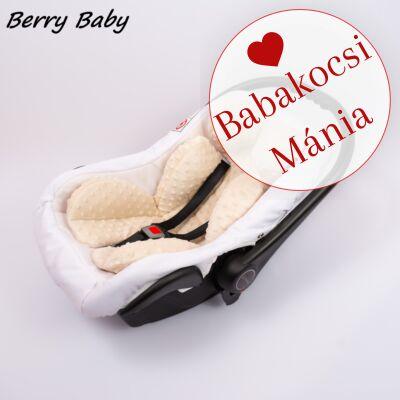 Berry Baby újszülött szűkítőbetét, alátét babahordozóba: mogyoró minky
