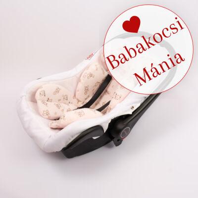 Berry Baby újszülött szűkítőbetét, alátét babahordozóba: flanel rózsaszín macis
