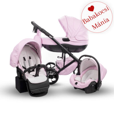 Berry Baby Sojan Aventador 3in1 multifunkciós babakocsi: Powder rózsaszín eco bőr fekete vázzal