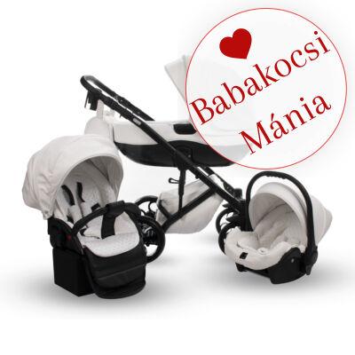 Berry Baby Sojan Aventador 3in1 multifunkciós babakocsi: fehér eco bőr fekete vázzal