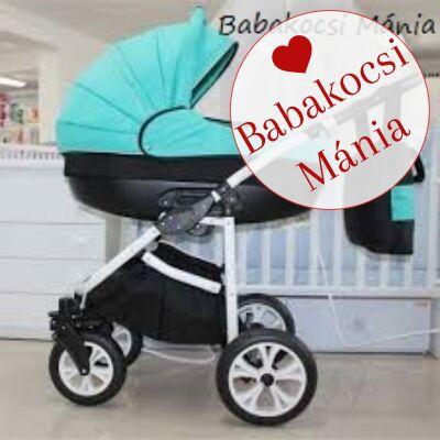 Berry Baby- LUX 3in1 babakocsi szett (autós hordozóval és adapterrel!): Z-14 -babakocsi szett- GÉL KERÉKSORRAL