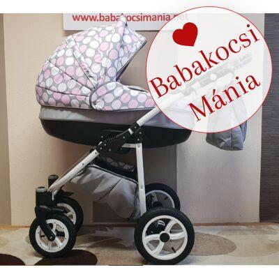 Berry Baby- LUX- 3in1 babakocsi szett (autós hordozóval és adapterrel!): Z-24 -GÉL KERÉKSORRAL