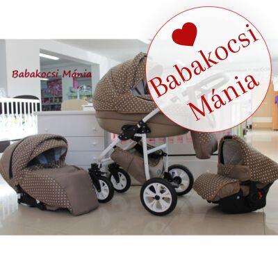 Berry Baby- LUX 3in1 babakocsi szett (autós hordozóval és adapterrel!): Z-5 -babakocsi szett- GÉL KERÉKSORRAL