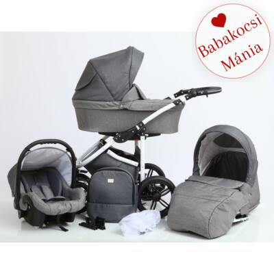 Berry Baby DIMATEO ALU 3in1 babakocsi szett (autós hordozóval és adapterrel!): Grafit