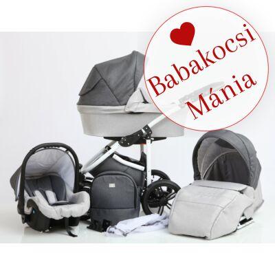 Berry Baby DIMATEO ALU 3in1 babakocsi szett (autós hordozóval és adapterrel!): Szürke-grafit