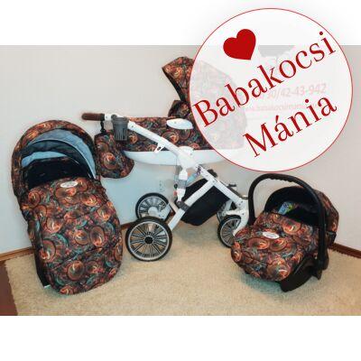 Berry Baby MOON multifunkciós babakocsi szett: Wonderland 3in1 (autós hordozóval és adapterrel!) -másik keréksorral szerelve-