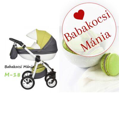 Berry Baby Macaron 3in1 multifunkciós babakocsi M-18 zöld grafit szürke
