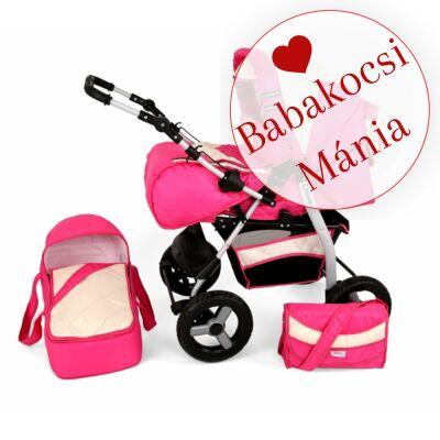 Kunert DEEP (Vip) 3in1 babakocsi (autós hordozóval): Rózsaszín-krém