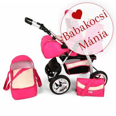 Kunert VOLVER 3in1 babakocsi (autós hordozóval): Rózsaszín-krém