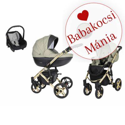 Kunert Mila Premium Class 3in1 babakocsi szett (autós hordozóval és adapterrel): Oliva