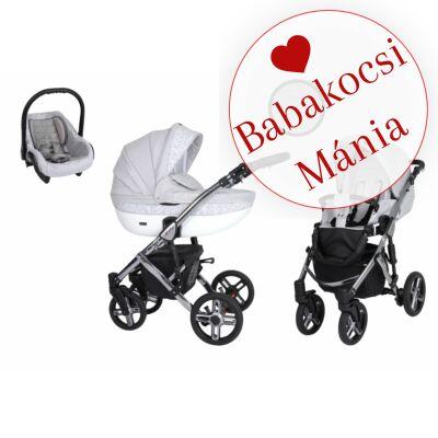 Kunert Mila Premium Class 3in1 babakocsi szett (autós hordozóval és adapterrel): Szürke indás